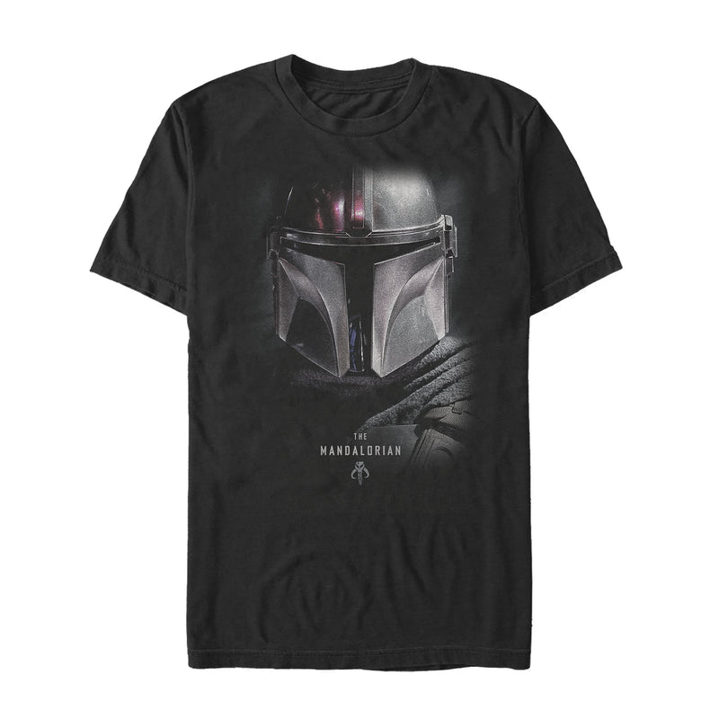 Star Wars The Mandalorian Men's Bounty Hunter Shadow  T-Shirt  Black  L