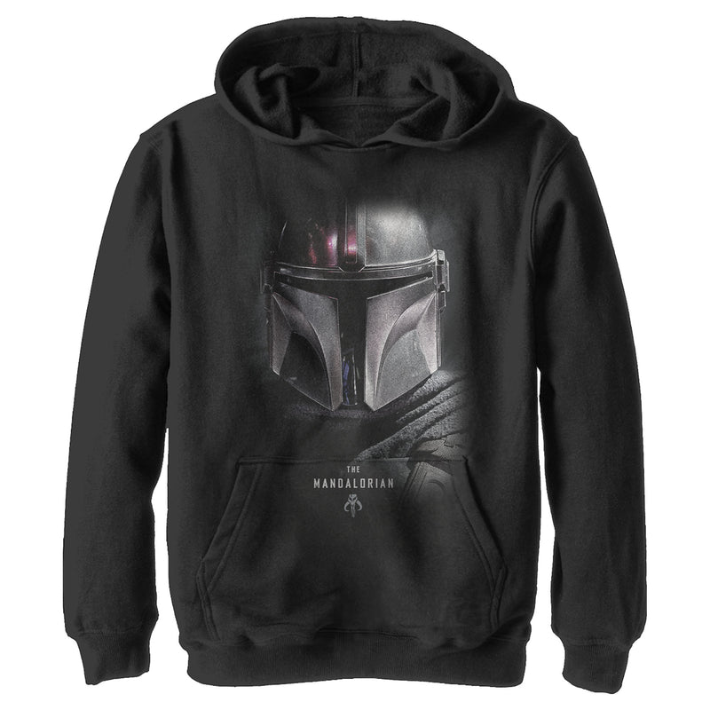Star Wars The Mandalorian Bounty Hunter Shadow Boys Graphic Lightweight Hoodie