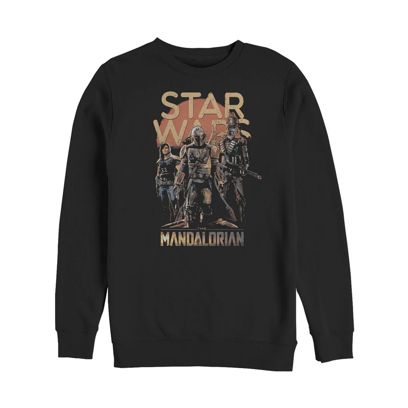 Star Wars The Mandalorian Men's Grunge Character  Sweatshirt
