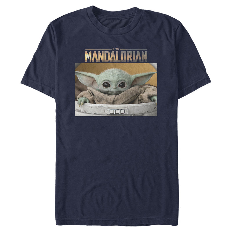 Star Wars The Mandalorian Men's The Child Bassinet  T-Shirt  Navy Blue  S