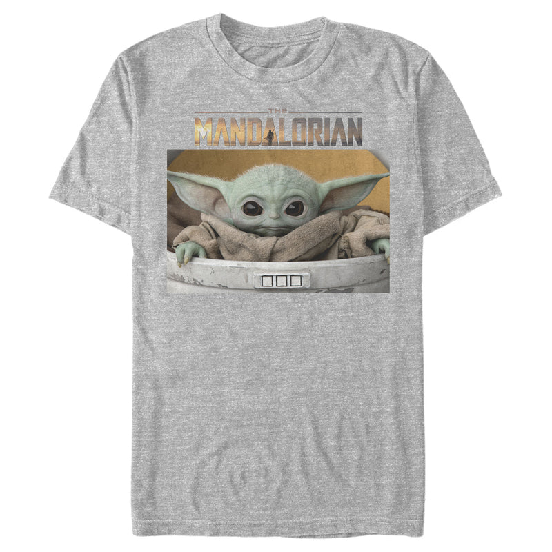 Star Wars The Mandalorian Men's The Child Bassinet  T-Shirt  Athletic Heather  S