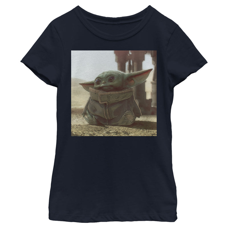 Star Wars The Mandalorian Girl's The Child Square Frame  T-Shirt