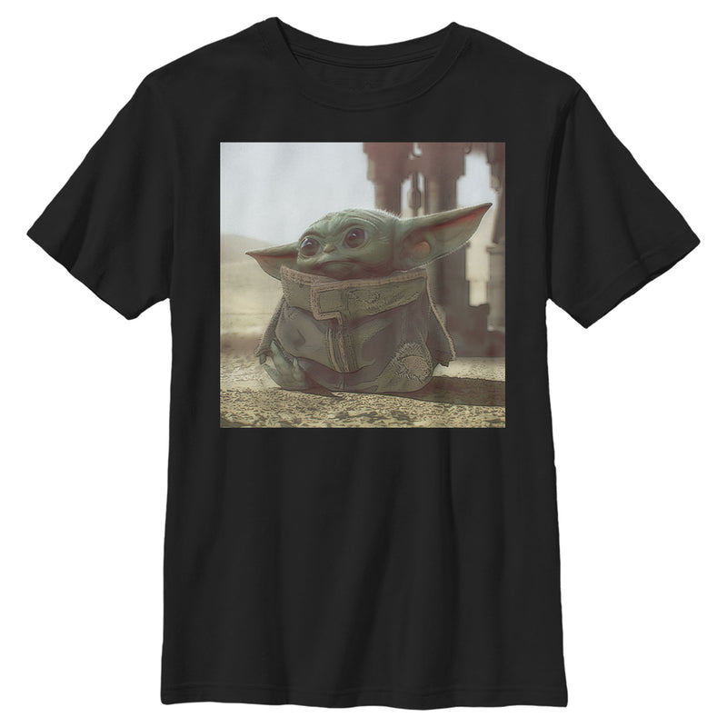 Star Wars The Mandalorian The Child Square Frame Boys Graphic T Shirt