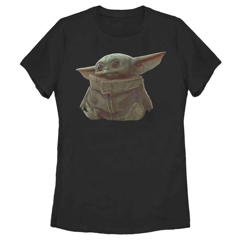 Star Wars The Mandalorian The Child Portrait Womens Graphic T Shirt