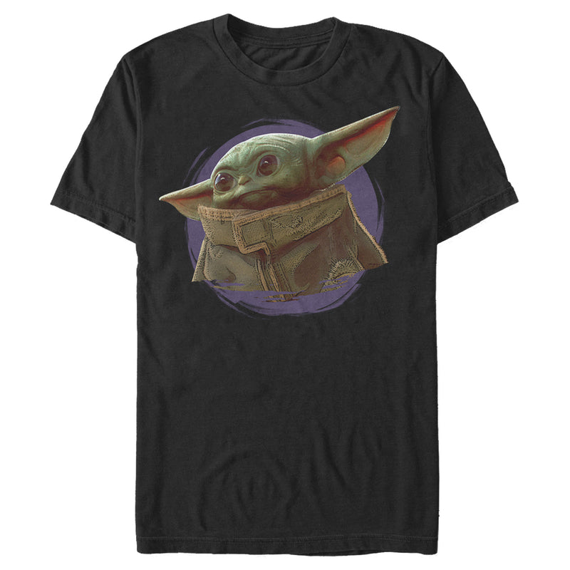 Star Wars The Mandalorian Men's The Child Circle Halo  T-Shirt