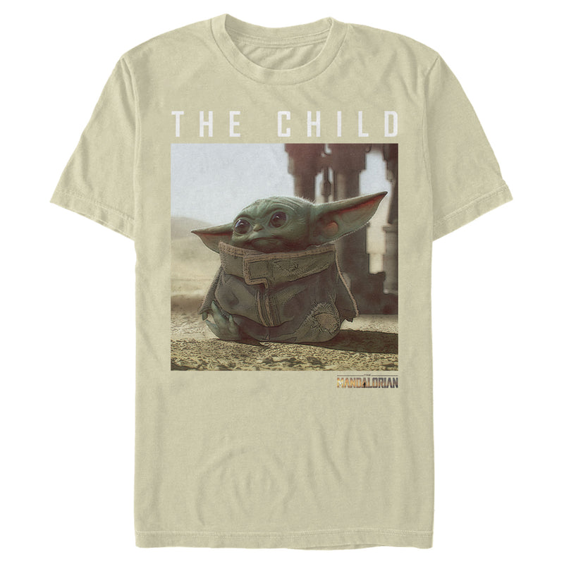 Star Wars The Mandalorian Men's The Child Frame  T Shirt