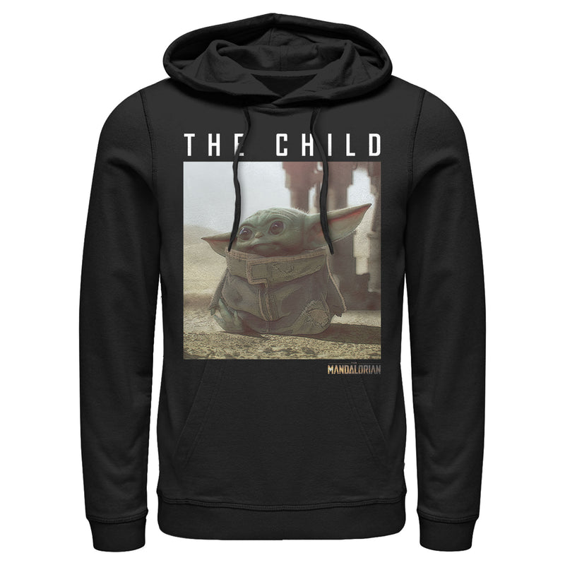 Star Wars The Mandalorian Men's The Child Frame  Pull Over Hoodie  Black  S
