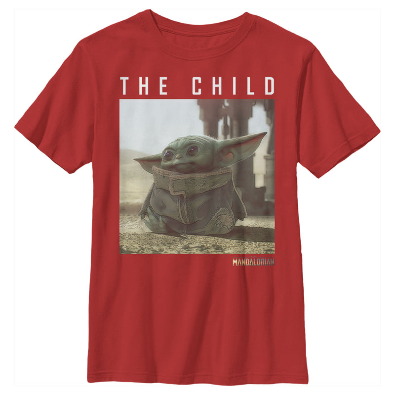 Star Wars The Mandalorian Boy's The Child Frame  T-Shirt  Red  L