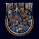 Star Wars The Mandalorian Men's Group Shot This Is The Way  T-Shirt