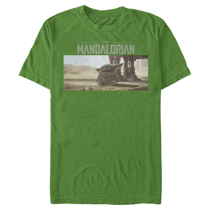 Star Wars The Mandalorian The Child Desert Walking Mens Graphic T Shirt