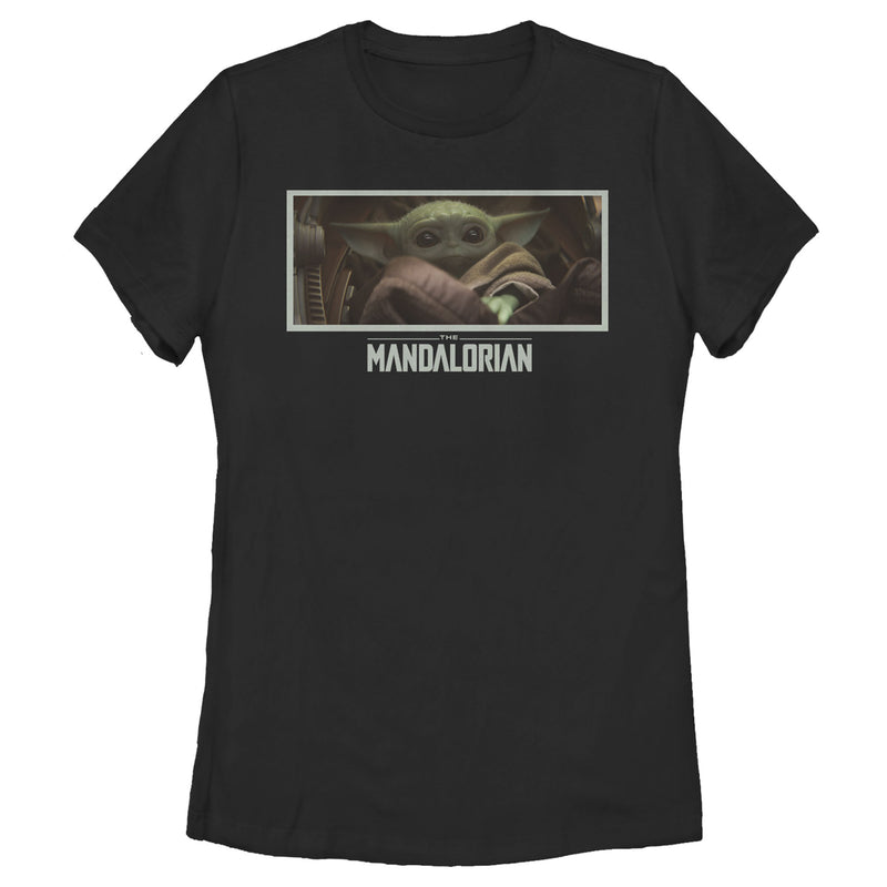 Star Wars The Mandalorian Women's The Child Letterbox  T-Shirt