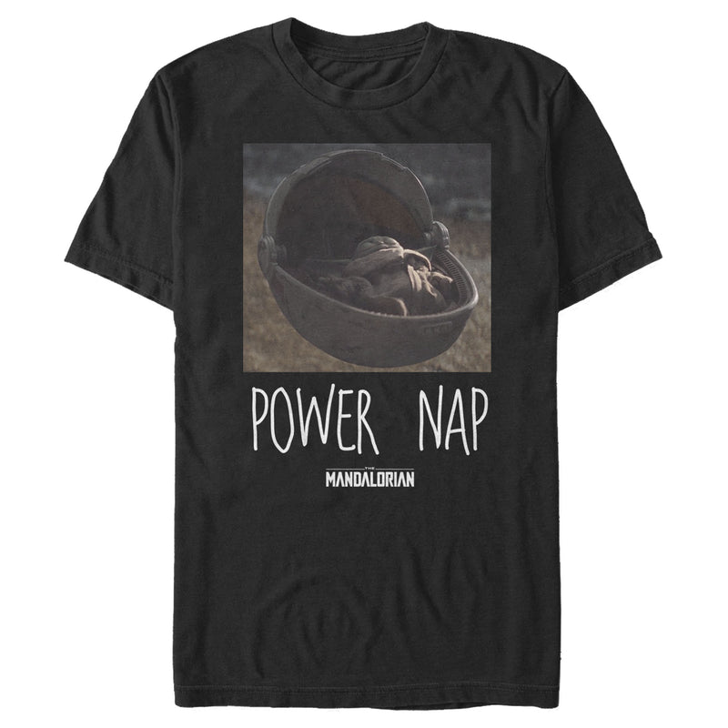 Star Wars The Mandalorian The Child Power Nap Mens Graphic T Shirt