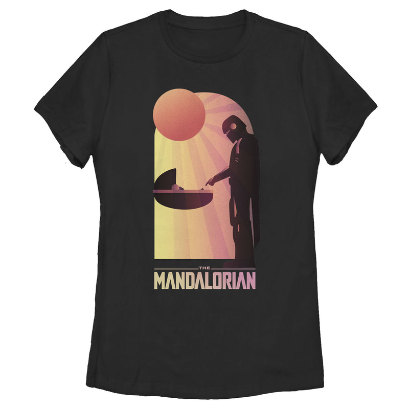 Star Wars The Mandalorian Women's The Child and Bounty Hunter Connection Made  T-Shirt