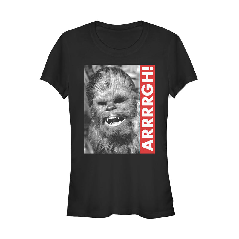 Star Wars Junior's Chewie Arrrrgh Poster  T-Shirt  Black  L