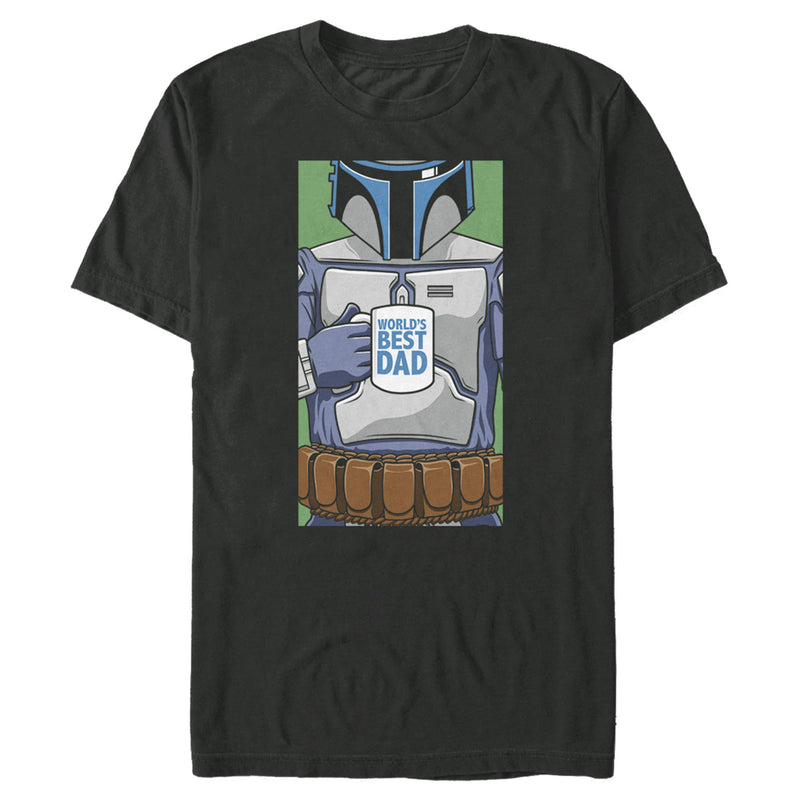 Star Wars Men's Boba Fett World's Best Dad  T-Shirt