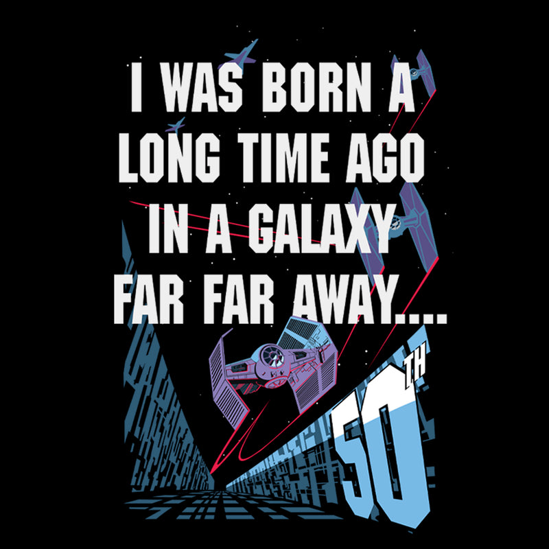 Star Wars Men's I Was Born A Time Ago 50th Birthday Portrait  T-Shirt
