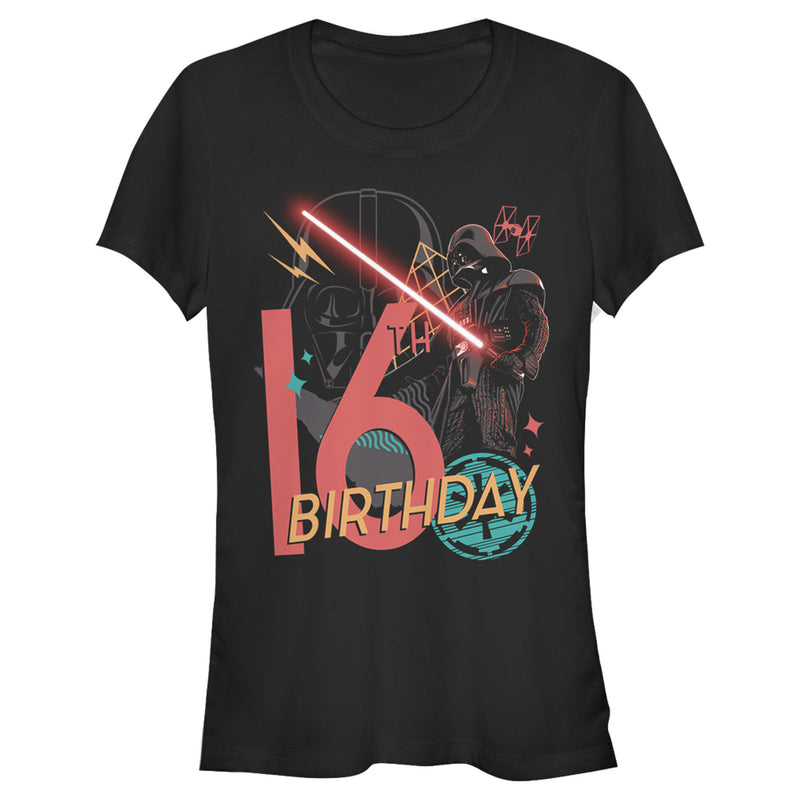 Star Wars Junior's Darth Vader 16th Birthday Abstract Background  T-Shirt