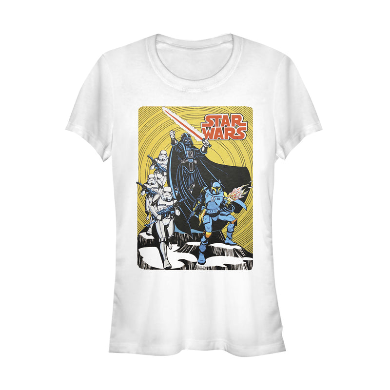 Star Wars Junior's Vintage Dark Side Cover  T-Shirt