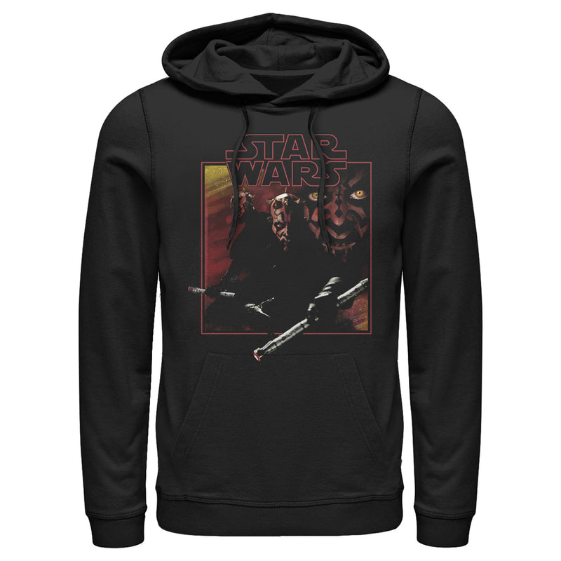 Star Wars Men's Darth Maul Saber  Pull Over Hoodie  Black  2XL