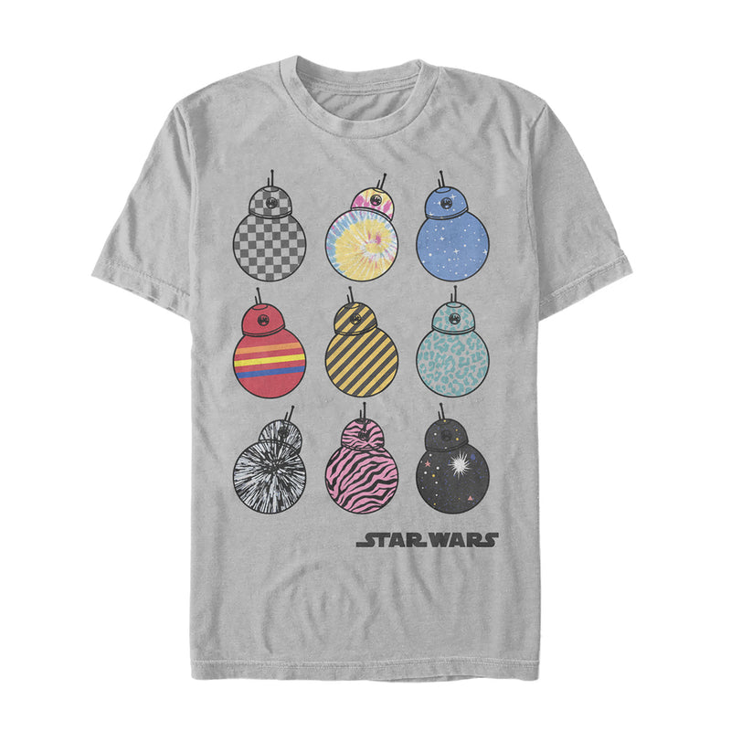 Star Wars: The Rise of Skywalker Men's BB-8 Fashion  T-Shirt  Silver  S