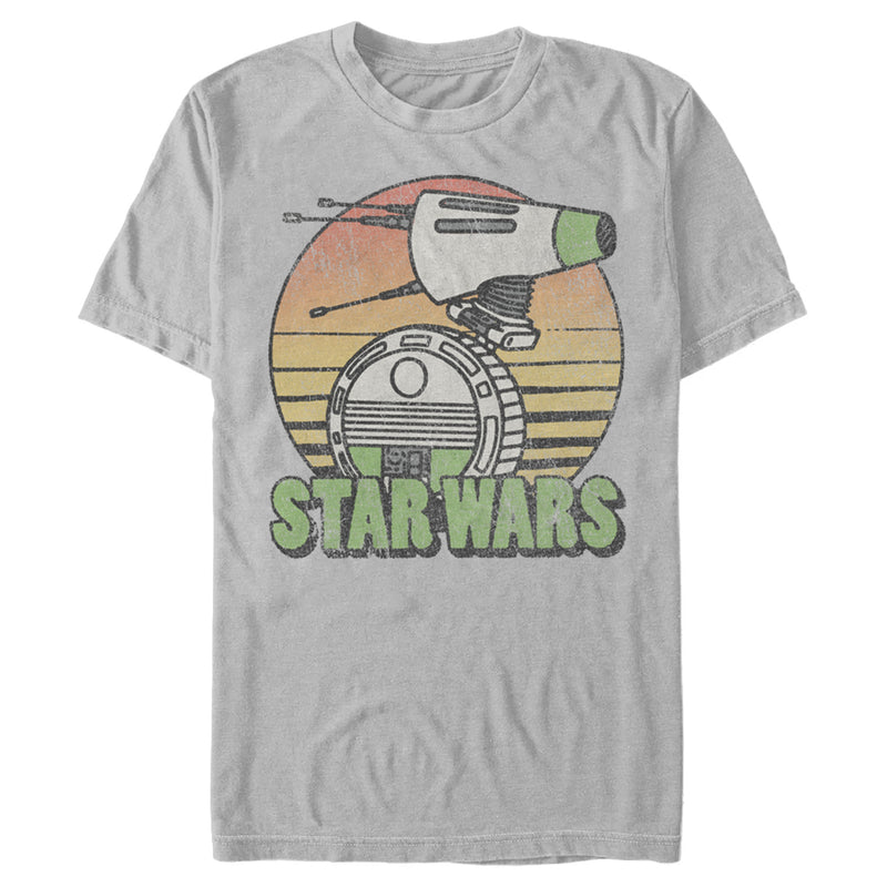 Star Wars: The Rise of Skywalker Retro D-0 Sunset Mens Graphic T Shirt