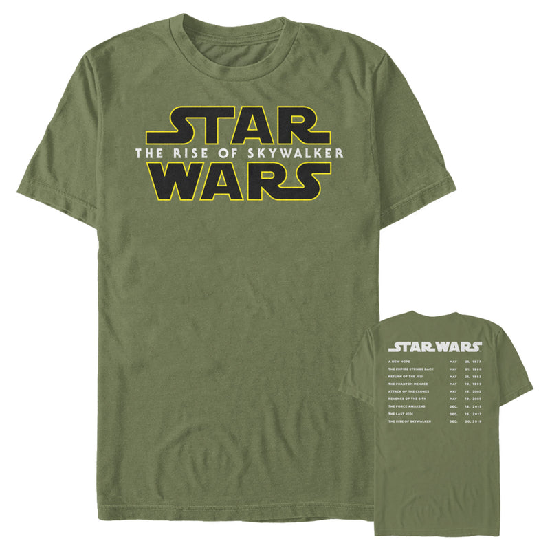 Star Wars: The Rise of Skywalker Men's Classic Movie Premieres  T-Shirt  Military Green  S