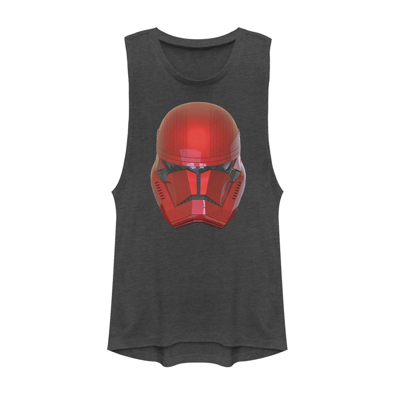 Star Wars: The Rise of Skywalker Junior's Sith Trooper Helmet  Festival Muscle Tee  Charcoal  L
