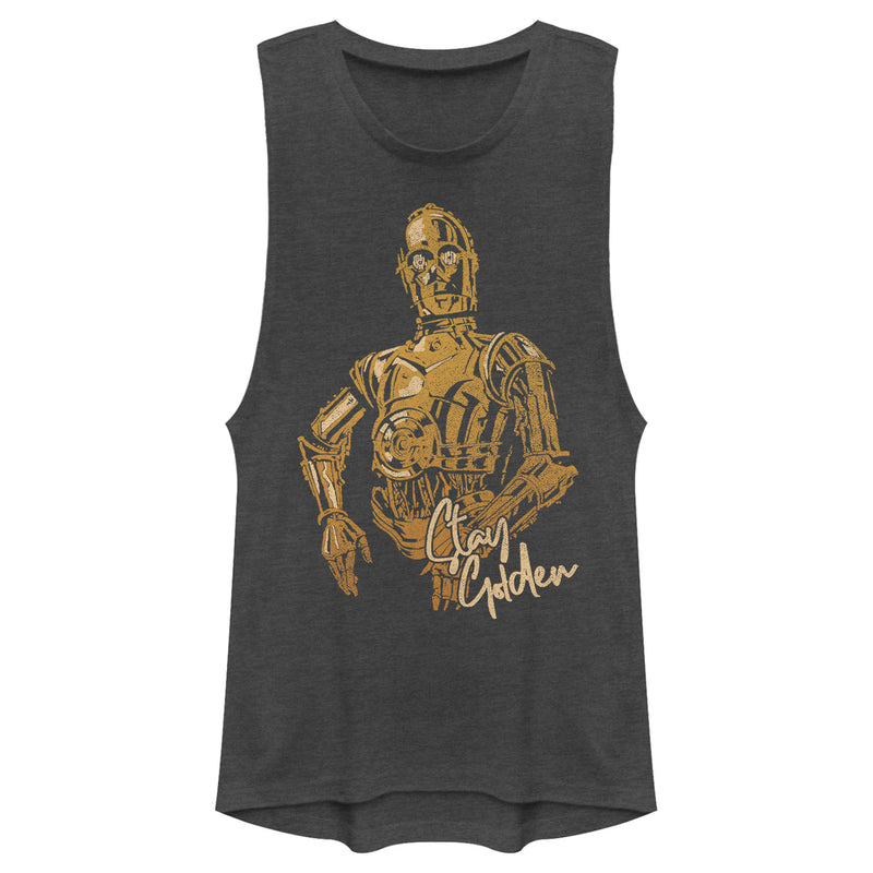 Star Wars: The Rise of Skywalker Junior's C-3PO Stay Golden  Festival Muscle Tee