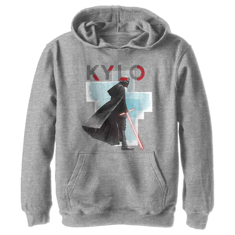 Star Wars: The Rise of Skywalker Boy's Sinister Kylo  Pull Over Hoodie  Athletic Heather  S