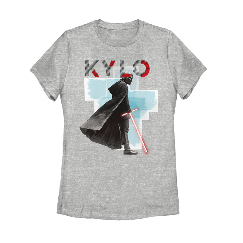 Star Wars: The Rise of Skywalker Women's Sinister Kylo  T-Shirt  Athletic Heather  S