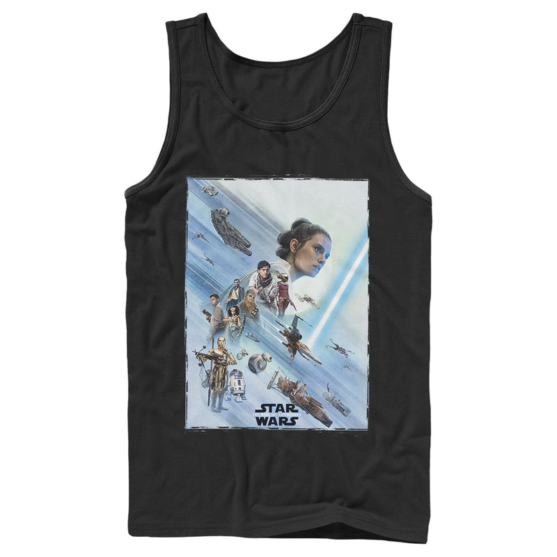 Star Wars: The Rise of Skywalker Men's Rey Poster  Tank Top  Black  L