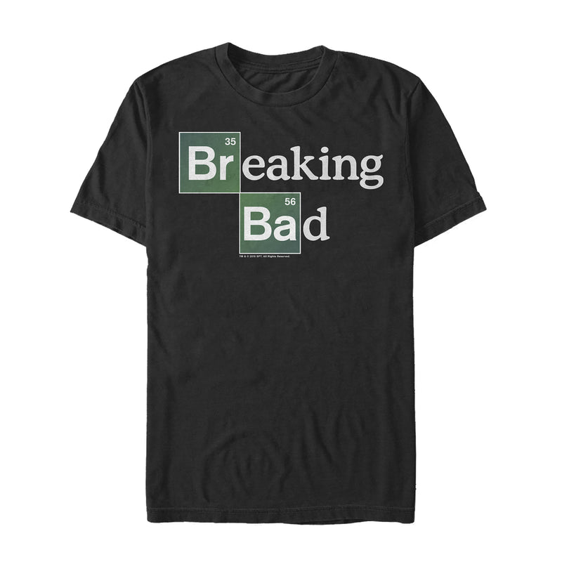 Breaking Bad Men's Periodic Table Logo  T-Shirt  Black  L