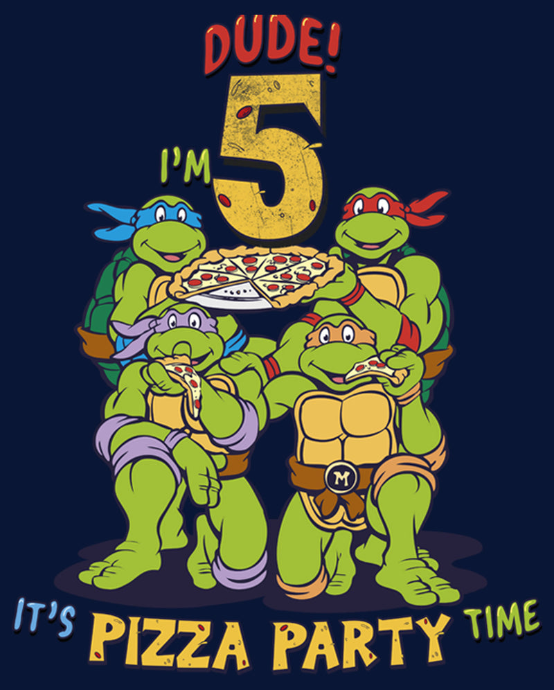Teenage Mutant Ninja Turtles Boy's 5th Birthday Pizza Party  T-Shirt