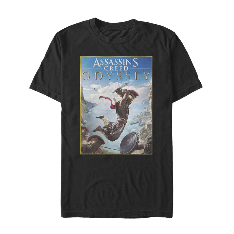 Assassin's Creed Men's Odyssey Spartan Poster  T-Shirt  Black  M