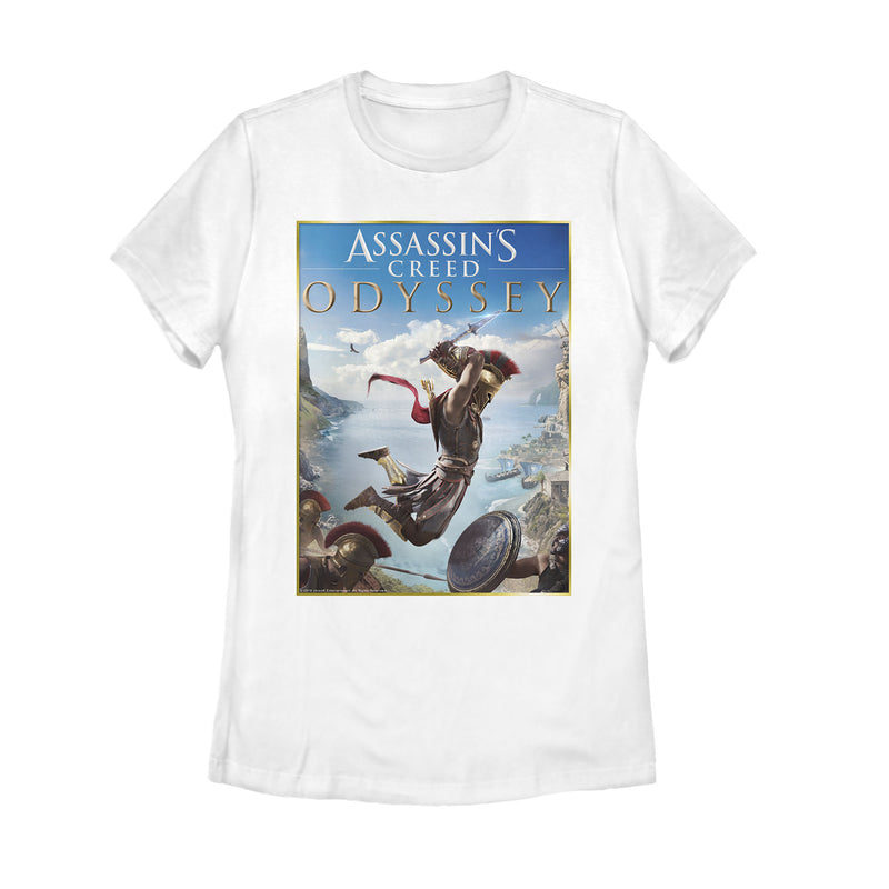 Assassin's Creed Odyssey Spartan Poster Womens Graphic T Shirt