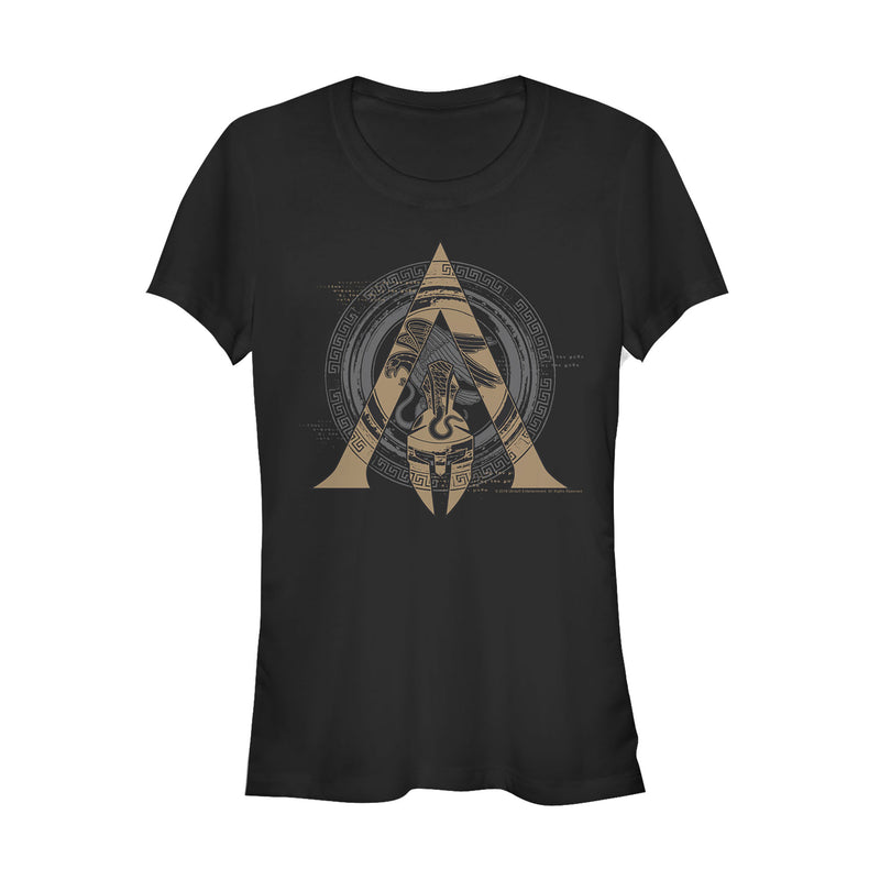 Assassin's Creed Odyssey Ornate Crest Juniors Graphic T Shirt