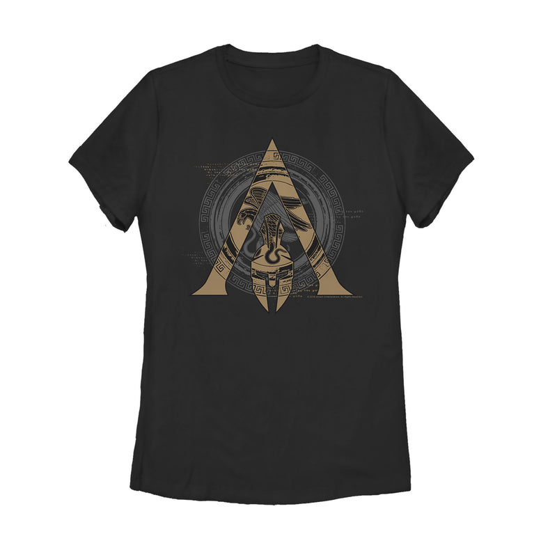 Assassin's Creed Women's Odyssey Ornate Crest  T-Shirt  Black  M
