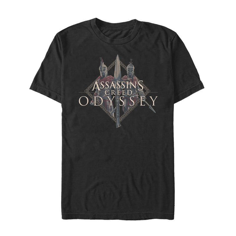 Assassin's Creed Men's Odyssey Character Spear  T-Shirt  Black  M