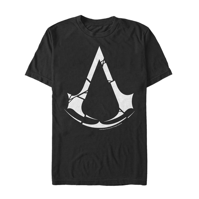 Assassin's Creed Men's Unity Cracked Logo  T-Shirt  Black  2XL