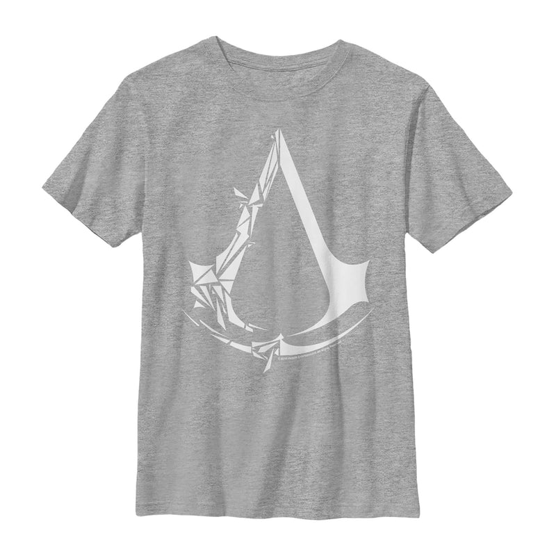 Assassin's Creed Boy's Unity Shattered Logo  T-Shirt  Athletic Heather  M