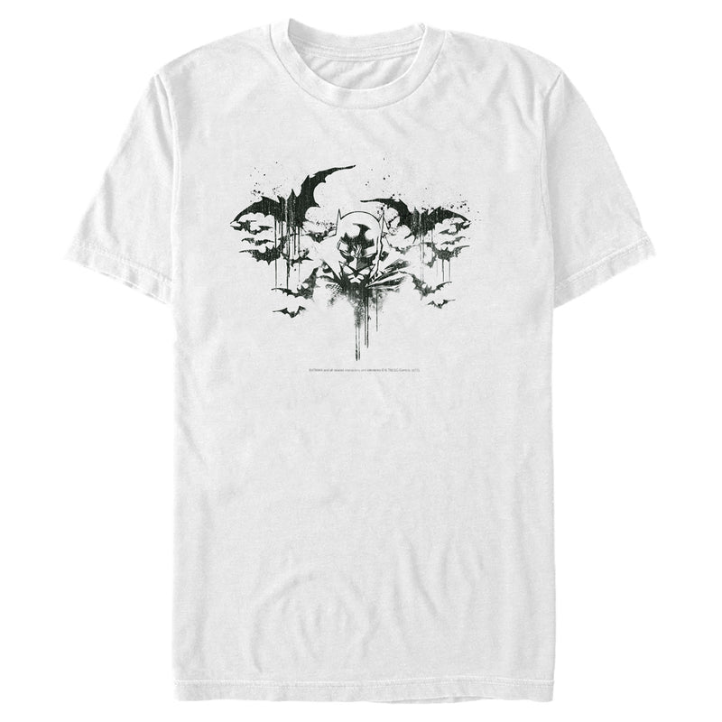 Batman Men's Emerging from Shadows  T-Shirt  White  M
