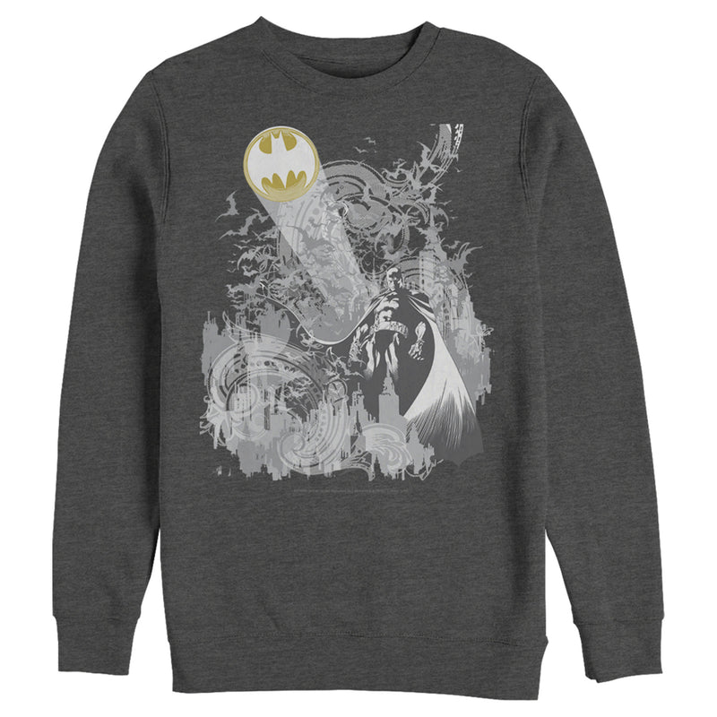 Batman Signal in the Sky Mens Graphic Sweatshirt