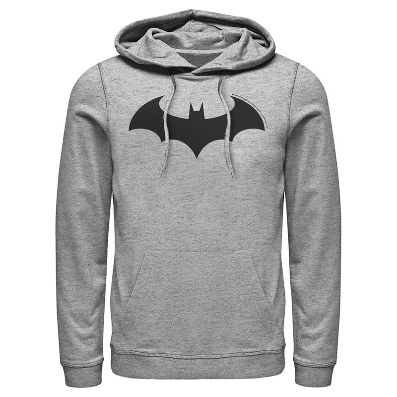 Batman Men's Logo Classic  Pull Over Hoodie  Athletic Heather  S