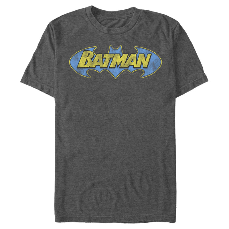 Batman Logo Retro Wing Mens Graphic T Shirt