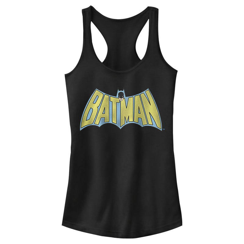 Batman Junior's Vintage Hero Logo  Racerback Tank Top  Black  M