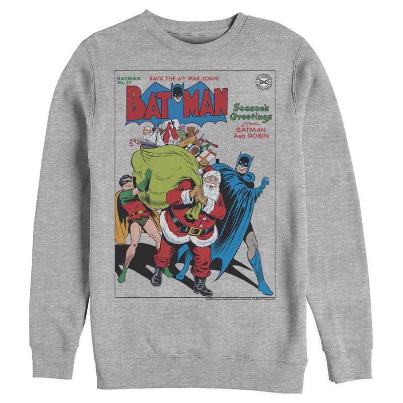 Batman Men's Christmas Vintage Season Greetings  Sweatshirt