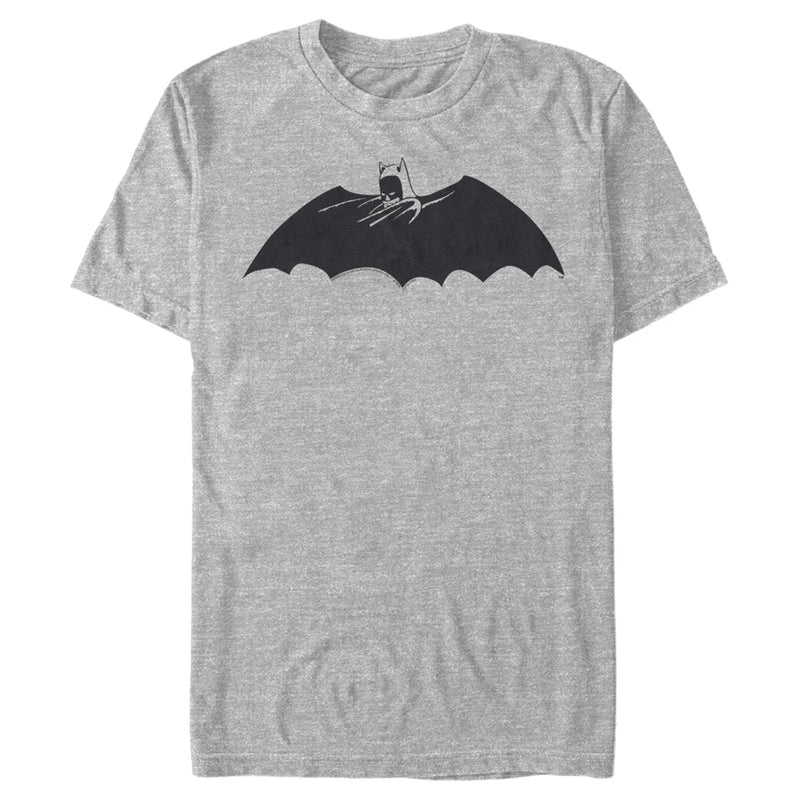 Batman Men's Caped Crusader Silhouette  T-Shirt  Athletic Heather  L
