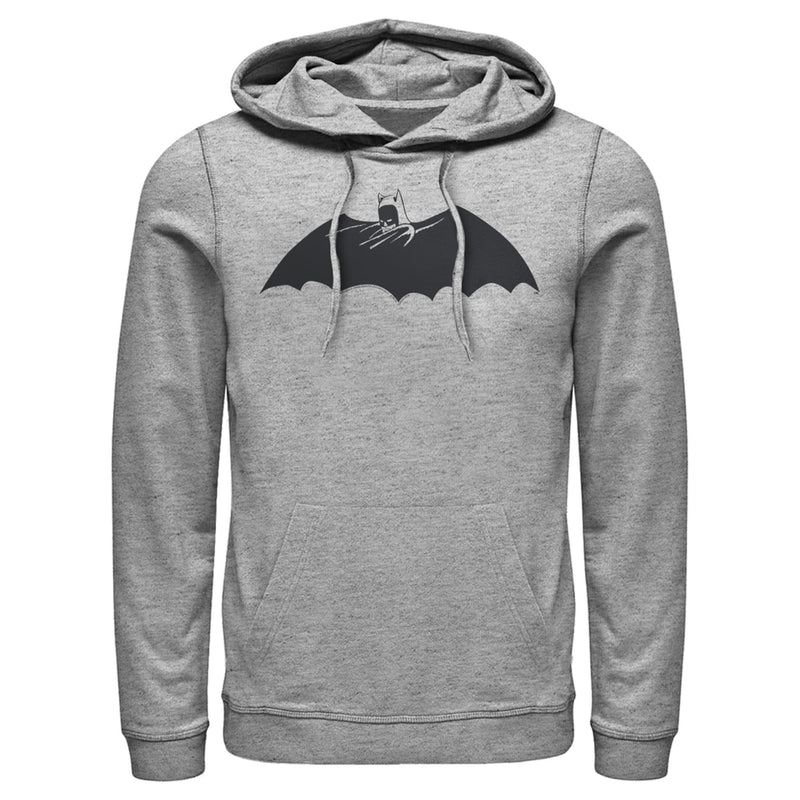 Batman Caped Crusader Silhouette Mens Graphic Lightweight Hoodie