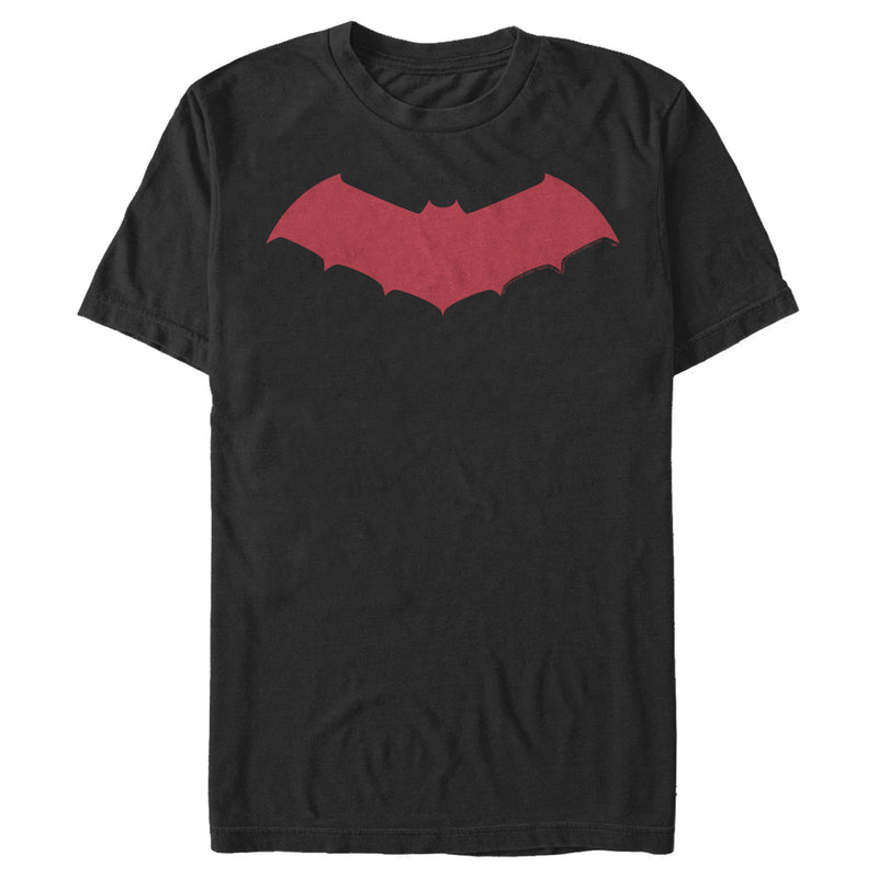 Batman Men's Logo Sleek Wing  T-Shirt  Black  L