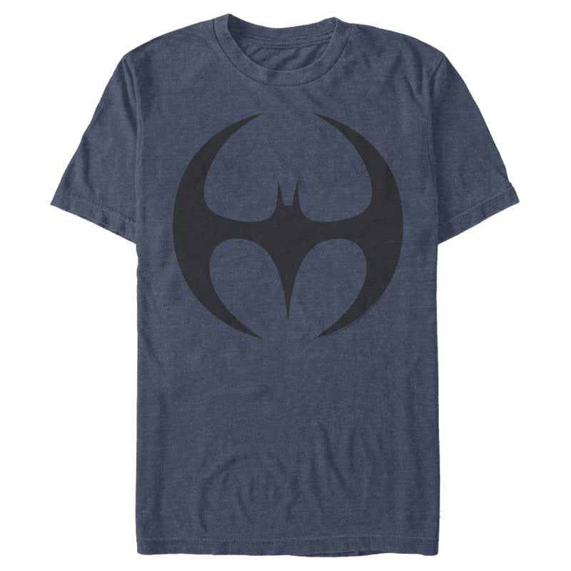 Batman Men's Logo Modern Wing Curve  T-Shirt